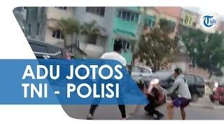 Viral Video Adu Jotos antara 2 Anggota TNI dan 1 Anggota Polisi di Tengah Jalan Palembang