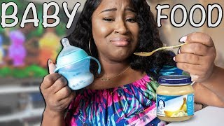 I ONLY ATE BABY FOOD FOR 24 HOURS CHALLENGE!