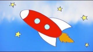 Dibujos de transportes para niños. Cómo dibujar un cohete