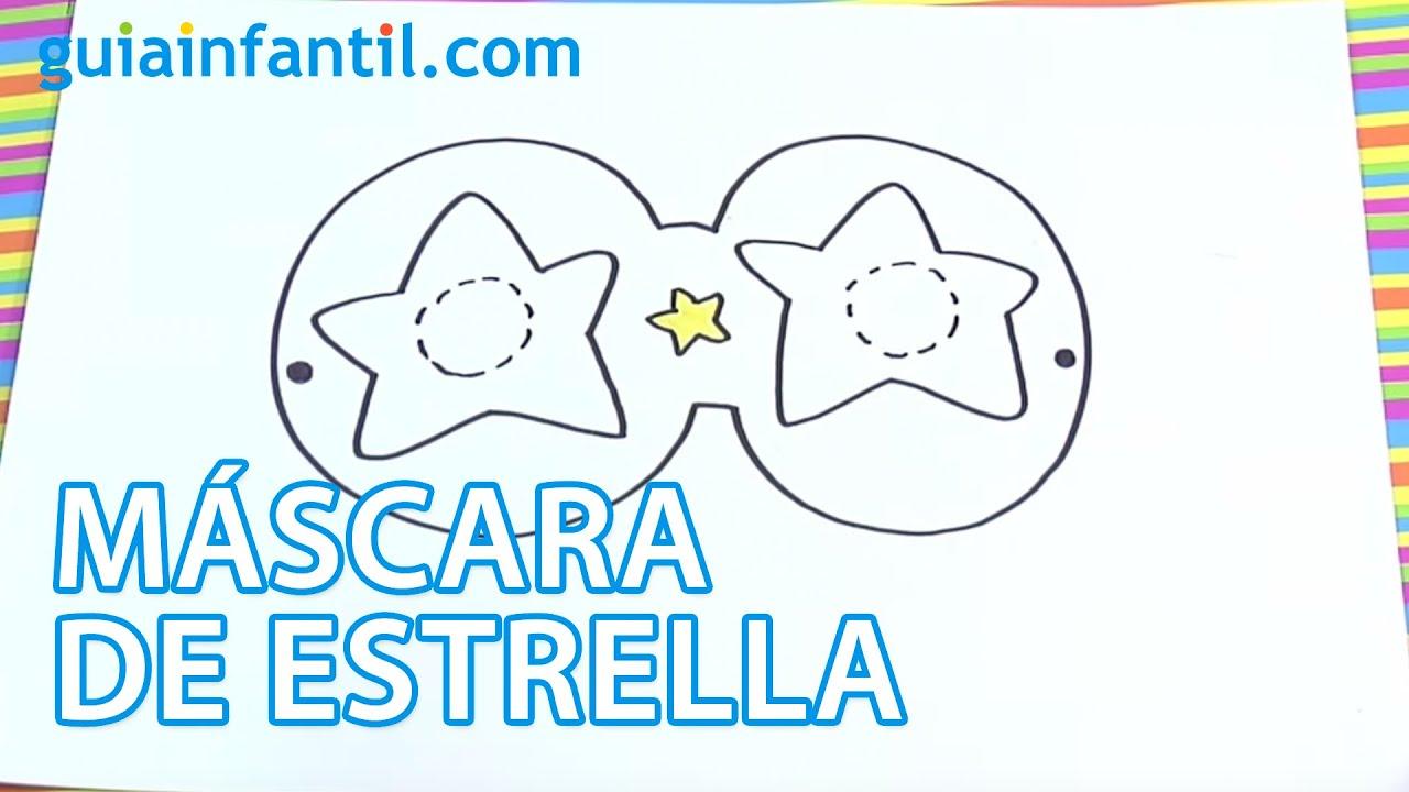Carnaval para niños. Máscara de estrella.
