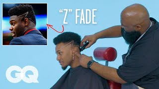 """Zion Williamson's """"Z"""" Fade Haircut Recreated by a Master Barber   GQ"""