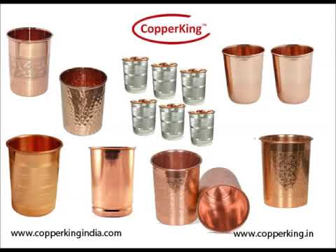 Copper King Wedding Gift Set Plain Bottle With Two Glasses