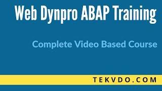 Web Dynpro ABAP Online Training - Part 1