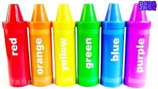 Учим цвета с Карандашами Сюрпризами 48 Сюрпризов Цветные Большие Карандаши Учим цвета
