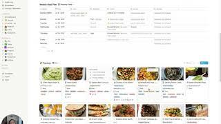 Food + Meal Prep Using Notion
