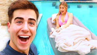 GIRLFRIEND WAKES UP IN SWIMMING POOL!!