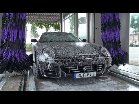 Who Would Take This Ferrari 612 Scaglietti To A Gas Station Car Wash?