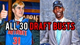 The WORST Draft BUST For All 30 NBA Teams