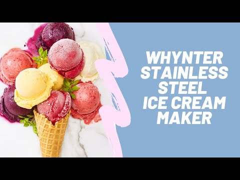 , Whynter ICM-201SB 2.1 Quart Upright Ice Cream Maker with Stainless Steel Bowl
