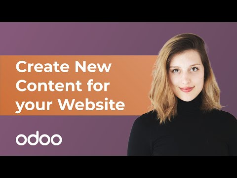 Create New Content for your Website | Odoo Website