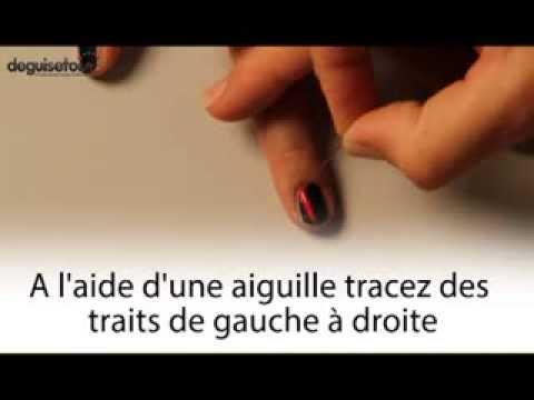 Tutoriel nail art effet sanglant
