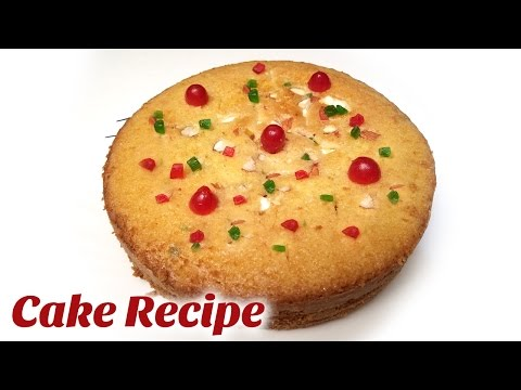 Video Cake Recipes | 2017 New Year Cake Recipe | How to make cake without oven|Tasty Fruit and Nut Cake