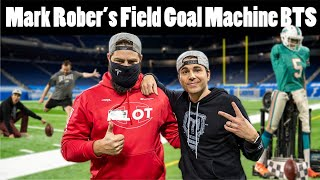Mark Rober's Football Field Goal Kicking Machine Behind the Scenes at Ford Field
