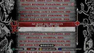 Guitar Hero: World Tour Song List  (HD)