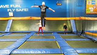 FLIPPING AT INDOOR TRAMPOLINE PARK!! DAY 55