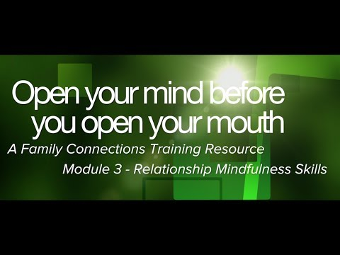Open Your Mind Before You Open Your Mouth - Module Three - Relationship Mindfulness Skills