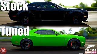 Forza Horizon 4: Stock vs Tuned! Dodge Demon vs Dodge Hellcat!