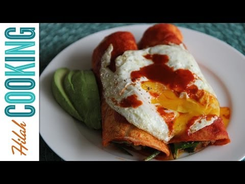 How to Make Breakfast Enchiladas! | Hilah Cooking