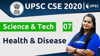 11:00 AM - UPSC CSE 2020 | Science & Tech by Samridhi Ma'am | Health & Disease