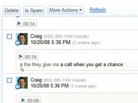 GrandCentral Sputters Back To Life as Google Voice, Adds Voicemail Transcription, SMS Support