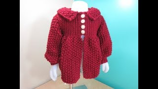 How To Knit Girls Cardigan 1 To 3 Years Old