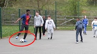 PLAYING KIDS at FOOTBALL!! - Meeting the 8 year old MESSI ?? 😱🔥