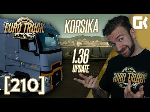 KORSIKA ANEB UPDATE 1.36! | Euro Truck Simulator 2 #210