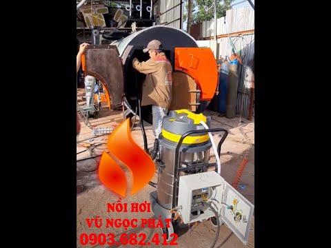 máy vệ sinh ống lửa cho nồi hơi