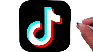 How To Draw the TikTok Logo
