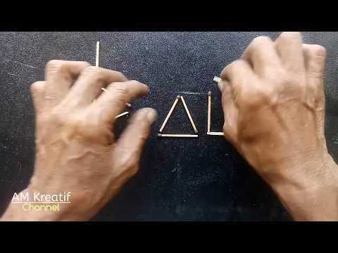 Duabelas Batang Kayu Api, disusun menjadi dua nama Pria & Wanita (masing2 tiga langkah). AmKreatif