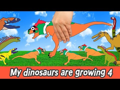 [EN] My dinosaurs are growing 4, dino animation, dinosaurs names for childrenㅣCoCosToy