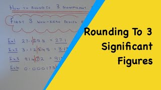 3 Significant Figures. How To Round Any Number Off To 3 Significant Questions.