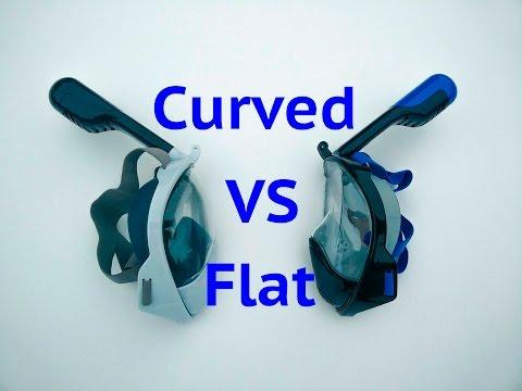 Flat vs Curved Snorkel Masks