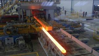 Актюбинский рельсобалочный завод. Выпускает рельсы, балки, уголки