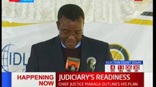 Chief Justice David Maraga outlines Judiciary's plan on dealing with poll disputes