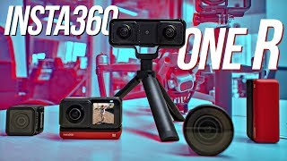 Insta360 ONE R: 360° Drone, 3D VR180, 1-inch Sensor Action Cam? | Hands-On First Impressions