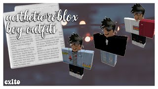 Aesthetic Roblox Boy Outfits || Exlto