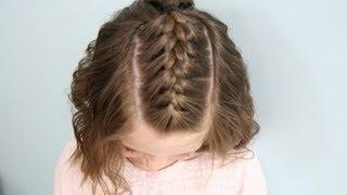 Single French {Braid} Back | Short Hair | Cute Girls Hairstyles