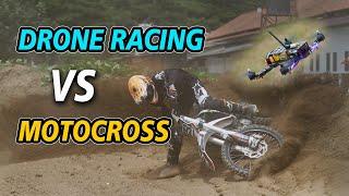 FPV DRONE RACING VS MOTOCROSS :: SIRKUIT MOTOCROSS Gunung KLOTOK ft CINEPROPZ