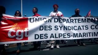 Manif au festival de Cannes 19 Mai 2016