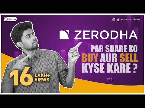 How to buy and sell shares on Zerodha platform (Demo