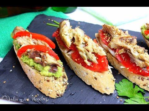 Cómo hacer pincho de caballa con aguacate y tomate |ESPECTACULARES!