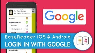 Sign-in to EasyReader with your Google Account