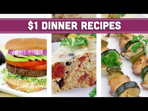 Video Healthy $1 Dinner Recipes - Easy Budget Meals! - Mind Over Munch