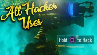 ALL USES FOR THE HACKER DEVICE ON MOON REMASTERED! - CALL OF DUTY BLACK OPS 3 ZOMBIES CHRONICLES