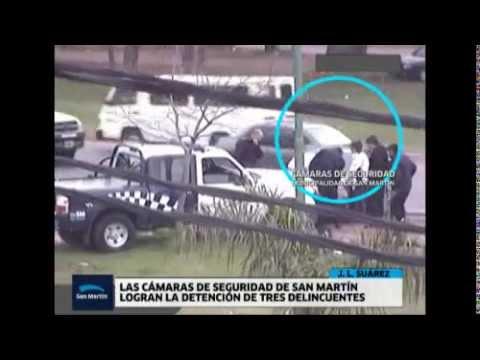 Las camaras de seguridad de San Martín ayudaron a la detención de tres delincuentes