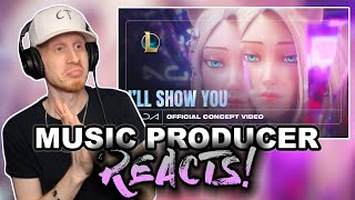 Music Producer Reacts to K/DA - I'LL SHOW YOU ft. TWICE, Bekuh BOOM, Annika Wells