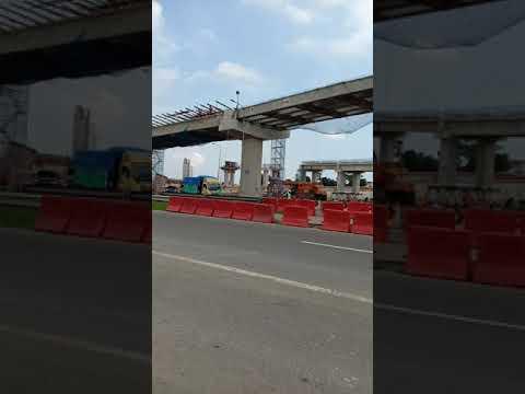 Proses pembangunan jln tol Medan binjai. Yg akan menjadi ikon kota Medan. Yaitu simpang susun