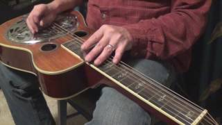 How to Flat Pick the Dobro - Basics for Beginners - movable patterns and rhythm