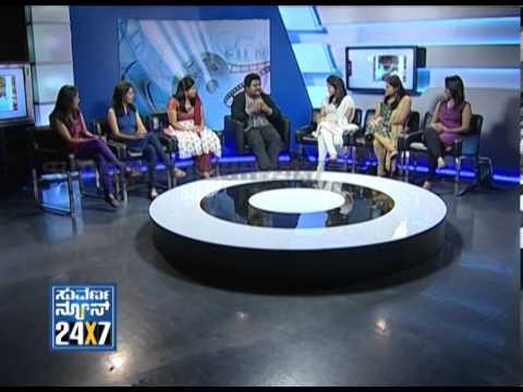 Seg_ 1 - Komal with Suvarna Girls - 23 Dec 2012 - Suvarna News